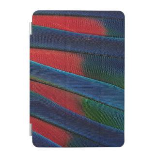 Protection iPad Mini Détail Bleu-Dirigé de plume de perroquet