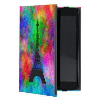 Protection iPad Mini Effet coloré de tissu de Paris de beau Tour Eiffel