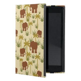 Protection iPad Mini Éléphants et paumes dans le camouflage