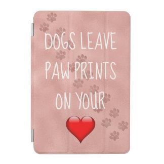 Protection iPad Mini Empreintes de pattes de congé de chiens sur votre