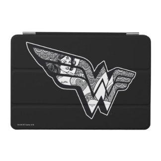 Protection iPad Mini Femme de merveille s'asseyant dans le logo à