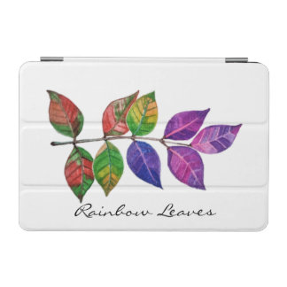 Protection iPad Mini Feuille d'arc-en-ciel d'aquarelle