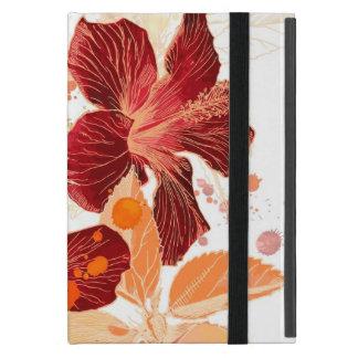 Protection iPad Mini Fleur de ketmie - peinture 2 d'aquarelle