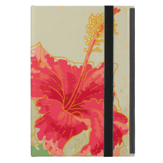 Protection iPad Mini Fleur de ketmie sur l'arrière - plan modifié la