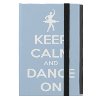 Protection iPad Mini Gardez le calme et dansez sur bleu-clair