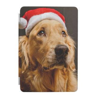 Protection iPad Mini Golden retriever posant pour son Noël