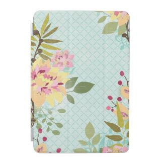 Protection iPad Mini Jardin floral, arrière - plan bleu