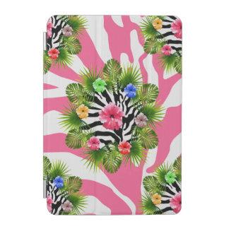 Protection iPad Mini Ketmie tropicale et rayures roses exotiques de