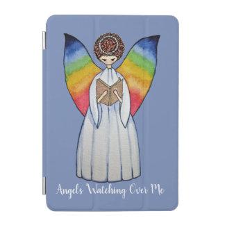 Protection iPad Mini L'ange d'aquarelle avec l'arc-en-ciel s'envole