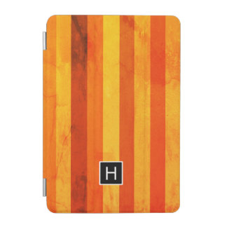 Protection iPad Mini Le rouge orange patiné chaud barre le monogramme