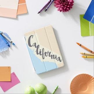 Protection iPad Mini Lettrage de brosse de la Californie avec la carte