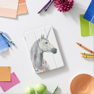 Protection iPad Mini Licorne d'esprit avec des fleurs autour de cou