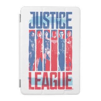 Protection iPad Mini Ligue de justice art bleu et rouge de | de groupe