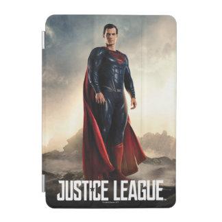 Protection iPad Mini Ligue de justice | Superman sur le champ de