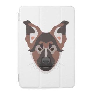 Protection iPad Mini L'illustration poursuit le berger allemand de