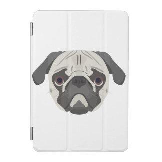 Protection iPad Mini L'illustration poursuit le carlin de visage