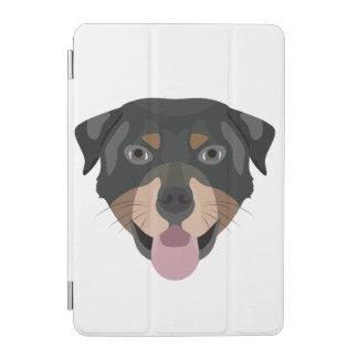 Protection iPad Mini L'illustration poursuit le rottweiler de visage