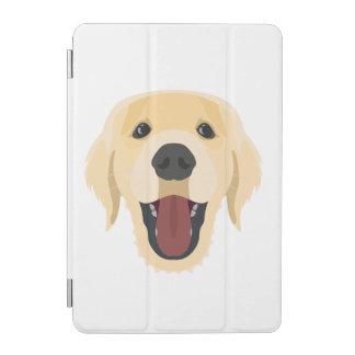 Protection iPad Mini L'illustration poursuit le visage Retriver d'or