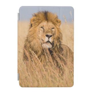 Protection iPad Mini Lion masculin caché dans l'herbe