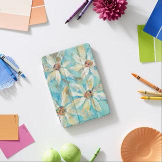Protection iPad Mini Marguerites blanches sur le bleu