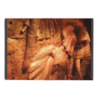 Protection iPad Mini Mini cas d'iPad en bois d'éléphants sans Kickstand