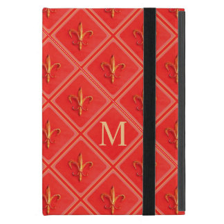 Protection iPad Mini Monogramme de corail de motif de French Fleur de