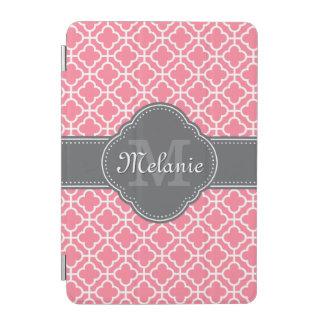 Protection iPad Mini Monogramme gris-foncé de motif marocain blanc