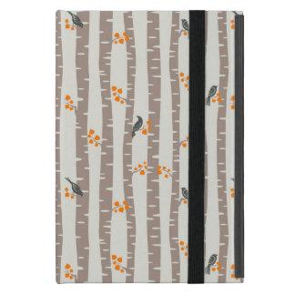Protection iPad Mini Motif avec des arbres et des oiseaux d'automne