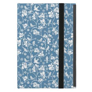 Protection iPad Mini motif avec les oiseaux et l'ornement de plantes