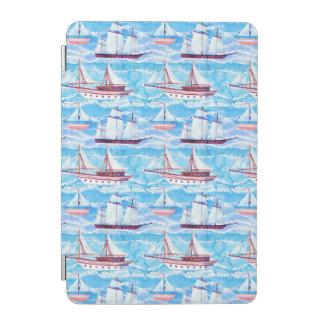 Protection iPad Mini Motif de bateaux de navigation d'aquarelle