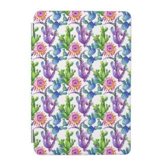 Protection iPad Mini Motif de cactus de fleur sauvage d'aquarelle
