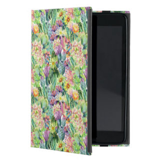 Protection iPad Mini Motif de floraison exotique de cactus d'aquarelle