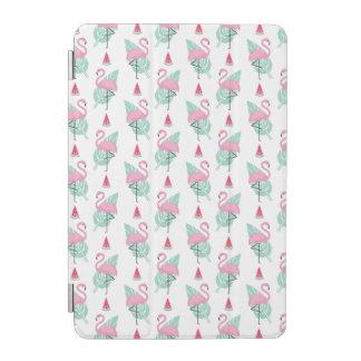 Protection iPad Mini Motif en pastel de flamant et de pastèque