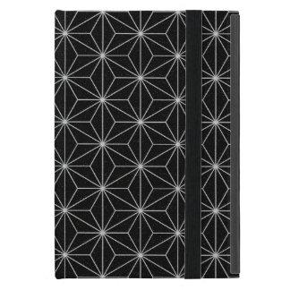 Protection iPad Mini Motif géométrique élégant - argent et Noir