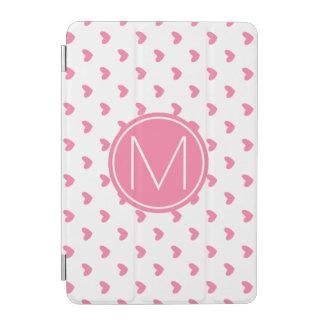 Protection iPad Mini Motif minuscule blanc rose élégant de coeur de