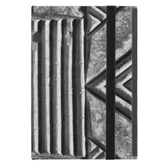 Protection iPad Mini Motif noir et blanc géométrique en pierre moderne