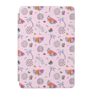 Protection iPad Mini Motif rose tropical de style de Memphis