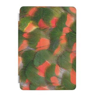 Protection iPad Mini Motif rouge et vert de plume