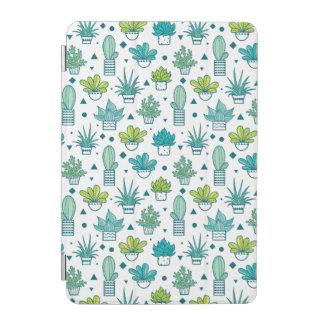 Protection iPad Mini Motif succulent d'aquarelle verte et bleue