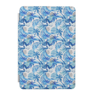 Protection iPad Mini Motif tropical bleu lumineux d'aquarelle