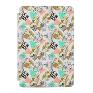 Protection iPad Mini Motif tropical géométrique abstrait de feuille