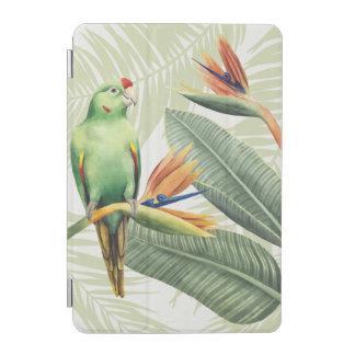 Protection iPad Mini Palmettes avec l'oiseau vert