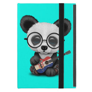 Protection iPad Mini Panda de bébé jouant la guitare croate de drapeau