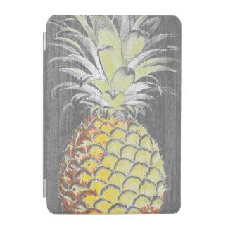 Protection iPad Mini Pinneapple jaune tropical sur le gris