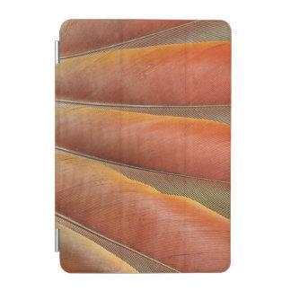 Protection iPad Mini Plumes Rouge-Oranges d'ara d'écarlate