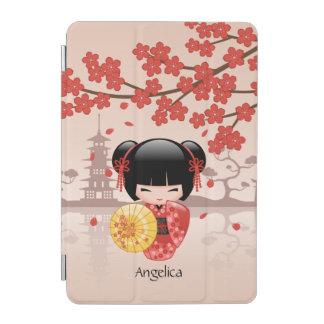 Protection iPad Mini Poupée rouge de Sakura Kokeshi - geisha japonais