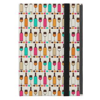Protection iPad Mini Rétros bouteilles et verres de vin