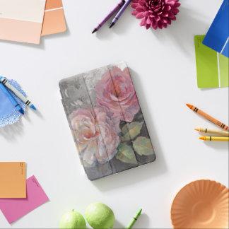 Protection iPad Mini Roses sur le gris