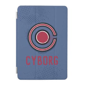 Protection iPad Mini Symbole de cyborg de brosse et d'image tramée de