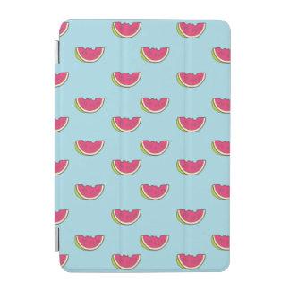 Protection iPad Mini Tranches de pastèque sur le motif turquoise